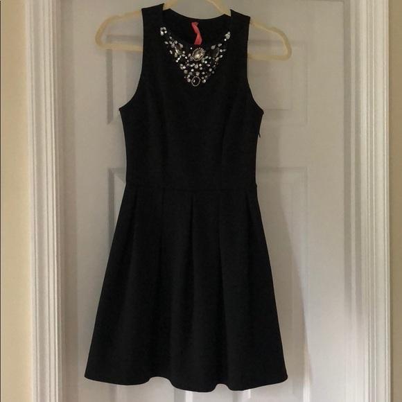 Eight Sixty Dresses Little Black Dress With Rhinestones Poshmark